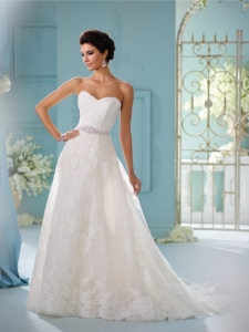 Skylar 216259 Ivory/Stone UK 18 with over skirt was £1,875 now £900