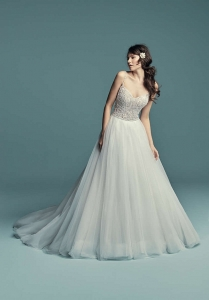 Maggie Sottero Lucca Ivory/Pewter UK 14 was £1,890 now £995