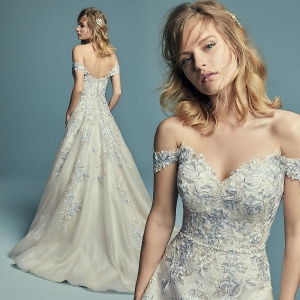 Maggie Sottero Maine Gold/Blue/Ch UK 16 was £1,845 now £995
